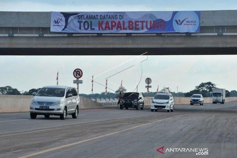 Ruas jalan tol Palembang-Bakauheni sepenuhnya operasional mulai Februari 2020