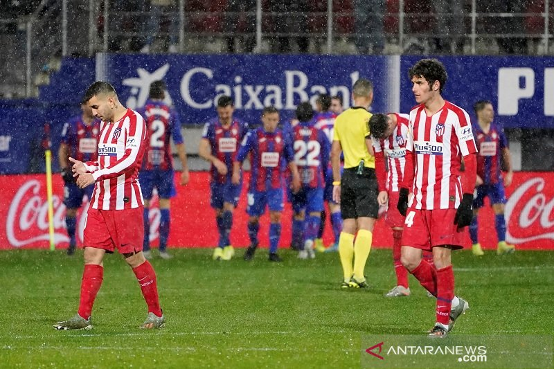 Atletico Madrid ditundukkan Eibar 0-2