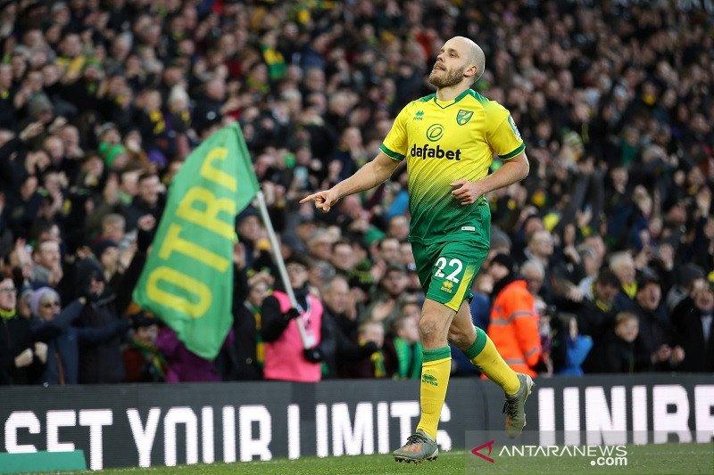 Ringkasan Liga Inggris: Norwich akhirnya menang setelah 9 laga
