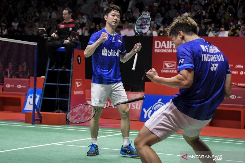 Kalahkan Hendra/Ahsan, Kevin/Marcus pertahankan gelar juara Indonesia Masters