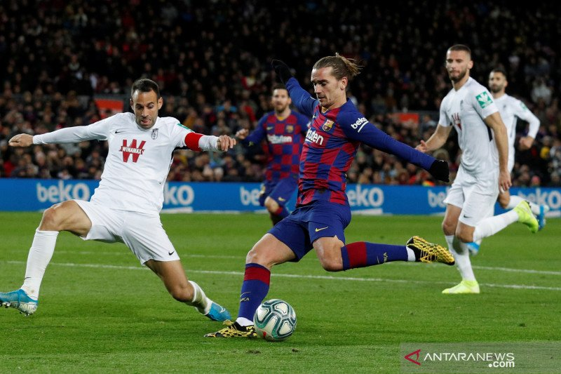 Antoine Griezmann terancam bela Barca absen hingga akhir musim