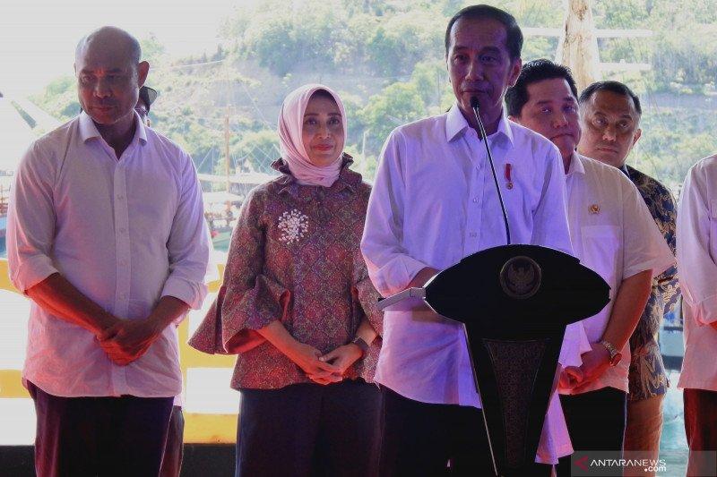 Presiden Jokowi resmikan kawasan Marina Bay Labuan Bajo