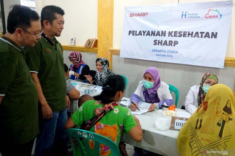 SHARP Gelar Pemeriksaan Kesehatan-Servis Produk Gratis  Korban Banjir