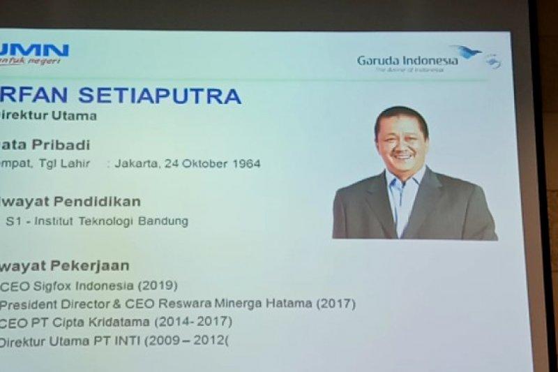 "Irfan Setiaputra jadi ""Pilot"" baru untuk tuntaskan tantangan Garuda Indonesia"