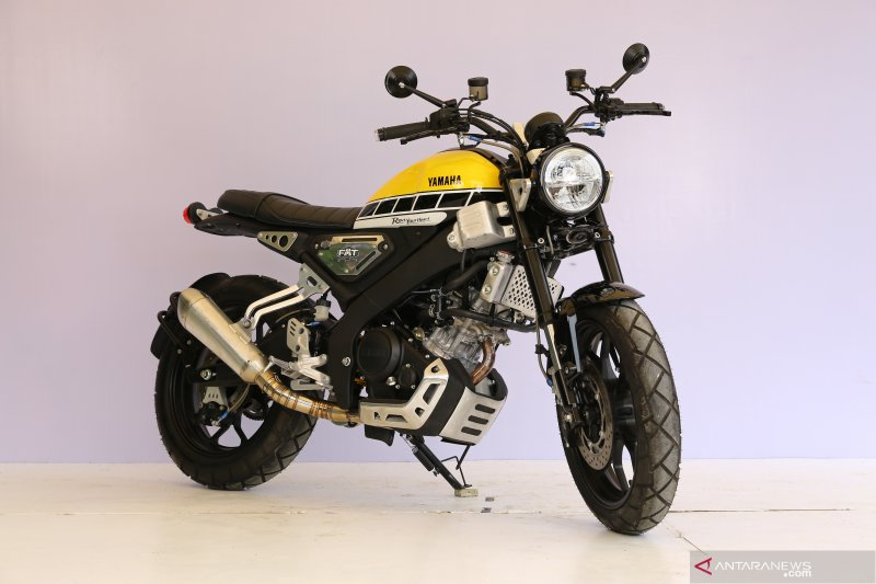 Tampilan Yamaha XSR pemenang kontes modifikasi Customaxi Bekasi