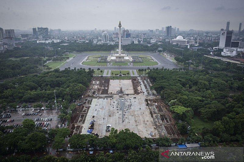 Kolam seukuran lapangan bola dan plaza akan dibangun di area revitalisasi Monas