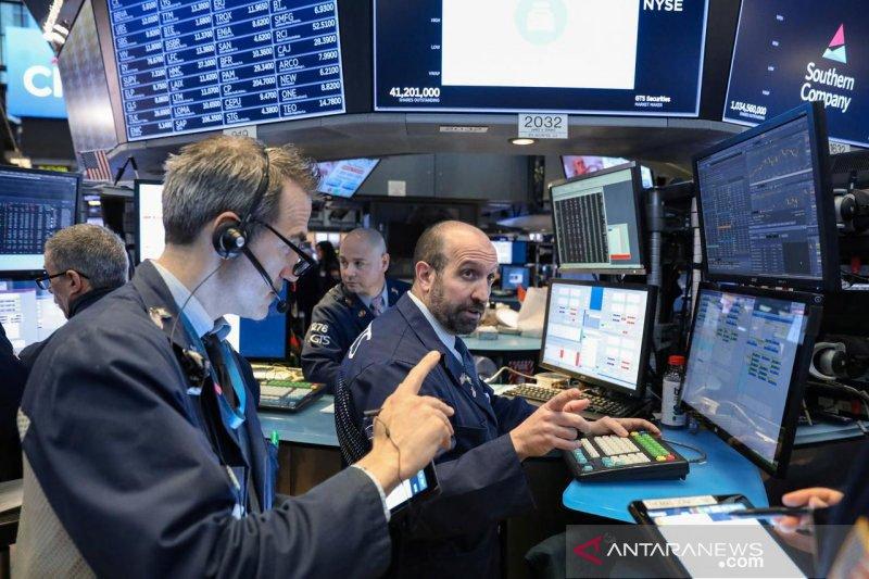 Khawatir ancaman wabah Virus Korona, Wall Street dilanda aksi jual