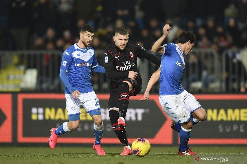 Gol semata wayang Rebic membawa Milan tundukkan Brescia