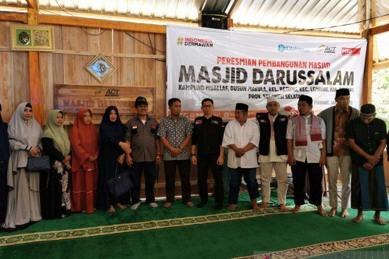 ACT-Kitabisa bantu bangun masjid pertama di Kampung Mualaf Makula