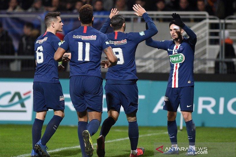 PSG lolos perempat final Piala Prancis, dan Lille disingkirkan tim divisi empat