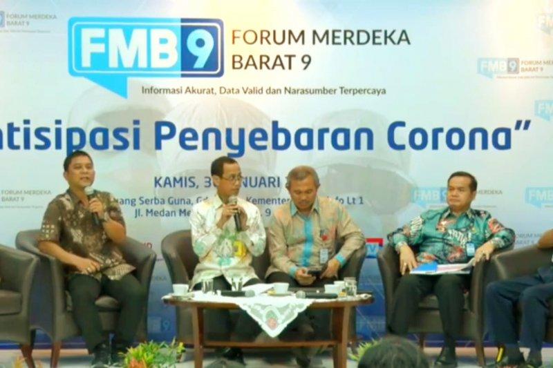 Kemenkes tegaskan hingga saat ini tidak ada kasus positif virus corona di Indonesia