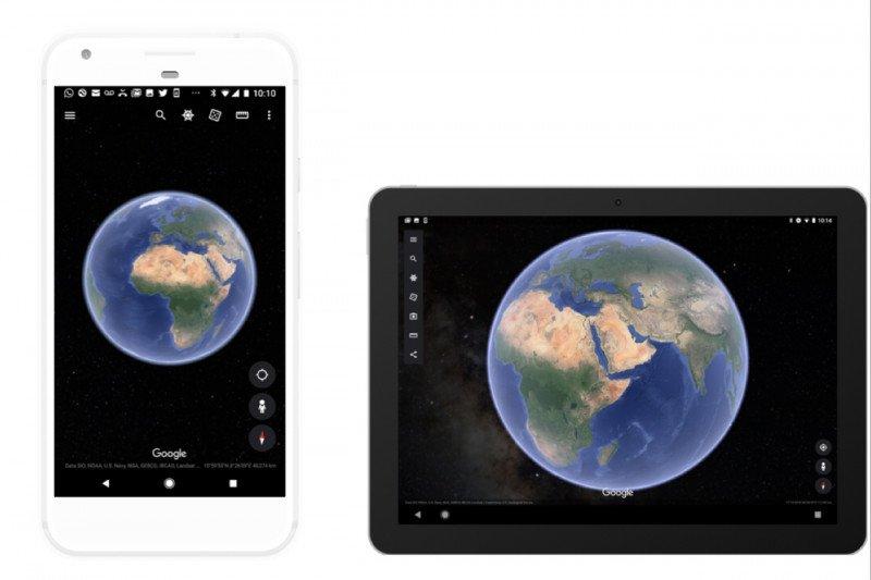 Google Earth pamerkan ruang angkasa melalui aplikasi ponsel