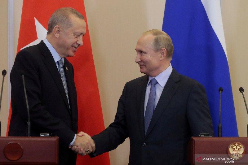 Erdogan minta Vladimir Putin menyingkir dari Suriah