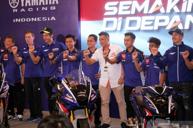 Rossi dan Vinales ramaikan peluncuran tim Yamaha Racing  Indonesia