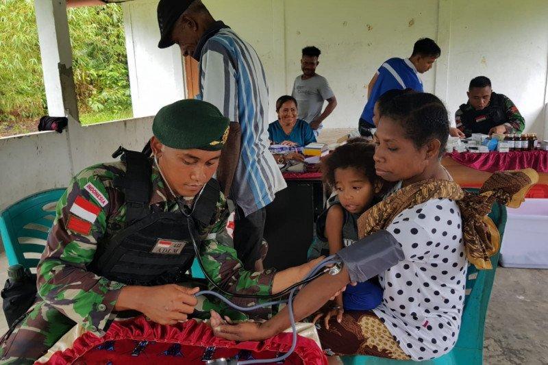 Satgas Yonif 755 gelar pelayanan kesehatan di Kampung Anus Sarmi, Papua