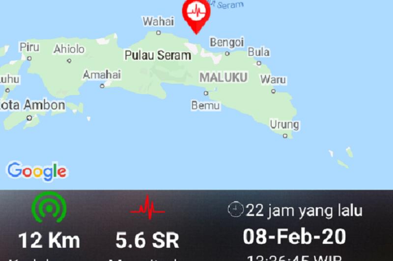 Tidak ada korban jiwa dan pengungsian akibat gempa Maluku Tengah