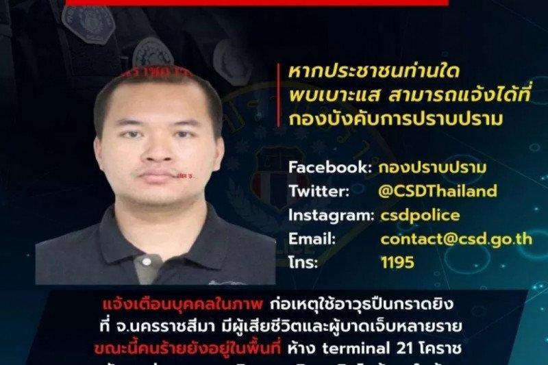 Pelaku penembakan tewaskan 21 korban, bersembunyi di basemen mal timur laut Thailand