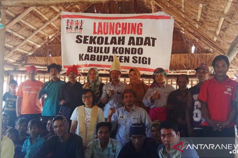 AMAN  bangun sekolah adat di Pegunungan Bangga Kabupaten Sigi