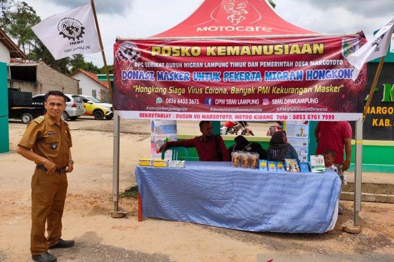 SBMI Lampung dan Pemdes Margototo galang donasi masker untuk pekerja migran