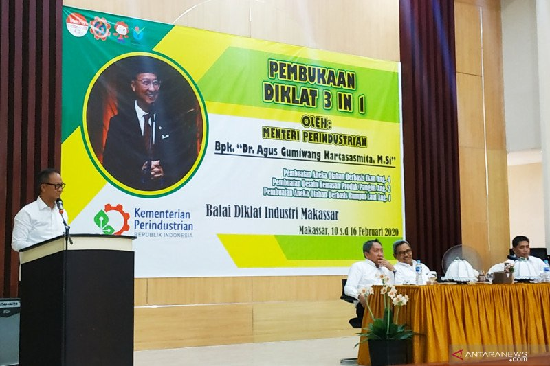 Menteri Perindustrian beri motivasi peserta diklat IKM di Makassar