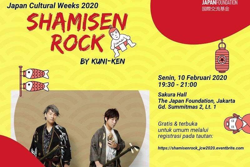 Ada shamisen rock hingga pemutaran film di Japan Cultural Weeks