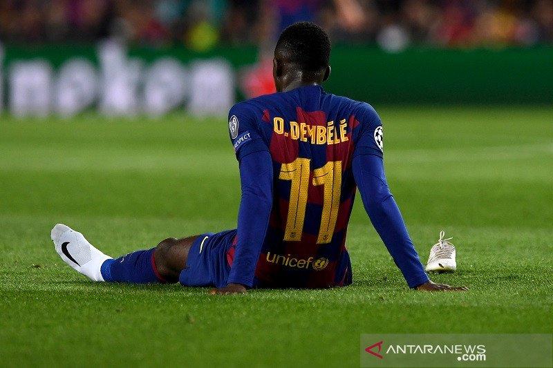 Cedera, Barcelona kehilangan Dembele enam bulan