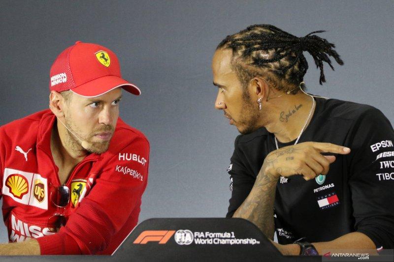Ferrari pilih Sebastian Vettel ketimbang Hamilton untuk 2021