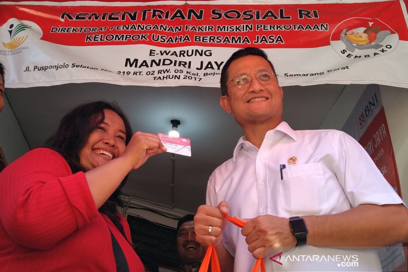 "Mensos  sebut ""E-Warong"" efektif kurangi angka kemiskinan dan stunting"