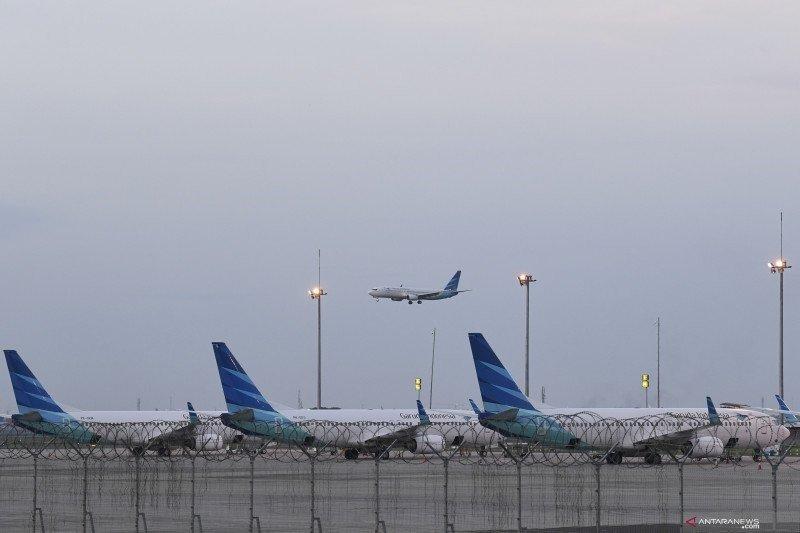 Cegah virus corona, Garuda semprotkan cairan khusus ke pesawat