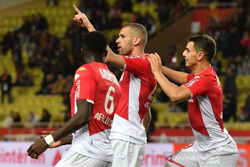 Islam Slimani lanjutkan tren positif AS Monaco dengan tundukkan Montpellier