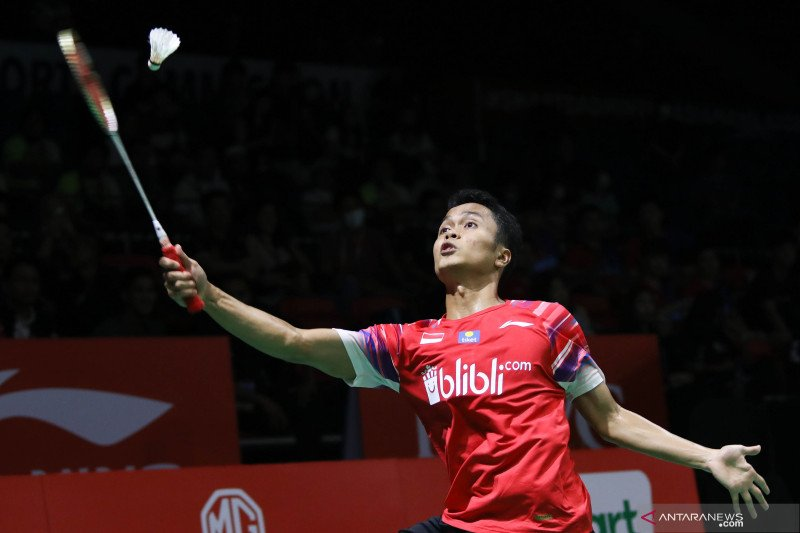 Anthony  Sinisuka Ginting buka keunggulan Indonesia di final BATC 2020