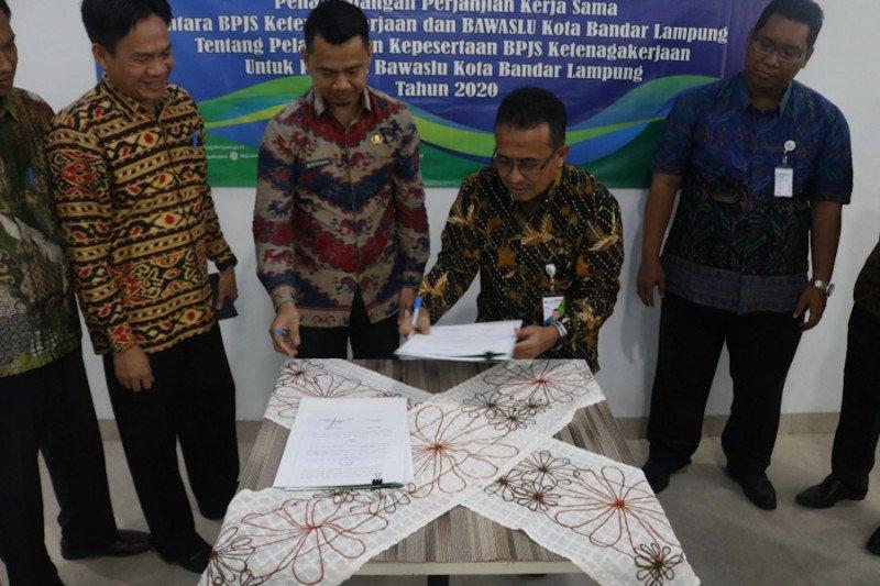 BPJamsostek-Bawaslu tandatangani kerja sama