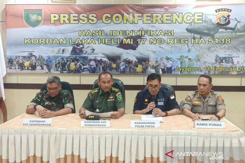 Hasil identifikasi 12 prajurit gugur helikopter Mi-17 di Papua diumumkan