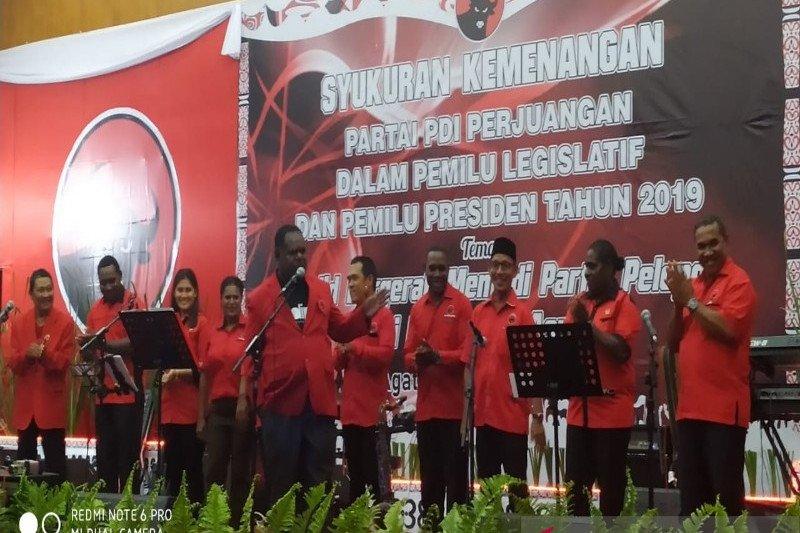 DPC PDIP Asmat syukuran kemenangan Pemilu Legislatif dan Presiden 2019