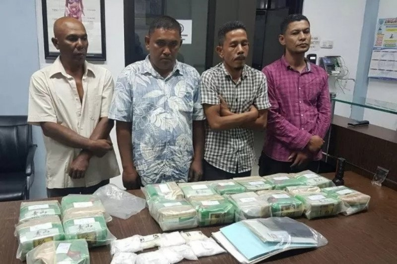Penyelundupan 33 kg sabu asal Malaysia digagalkan