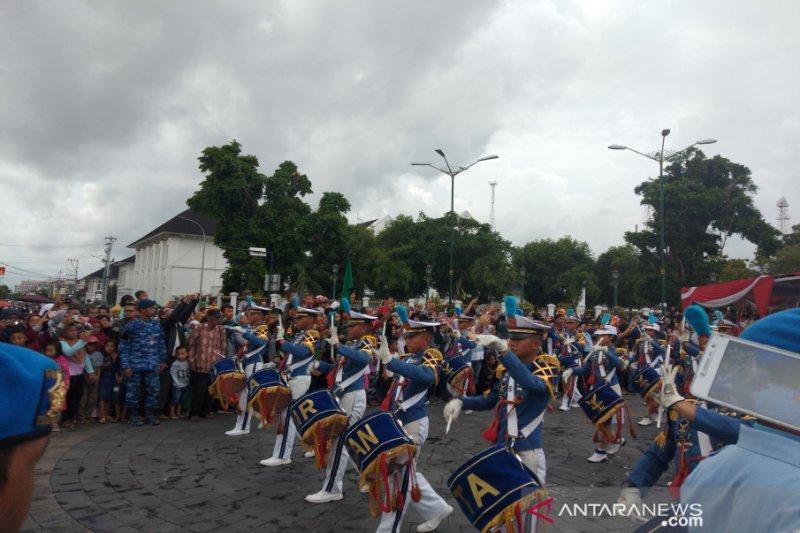 "Atraksi Drumband dan ""flashmob"" Beksan Wanara AAU pukau masyarakat Yogyakarta"