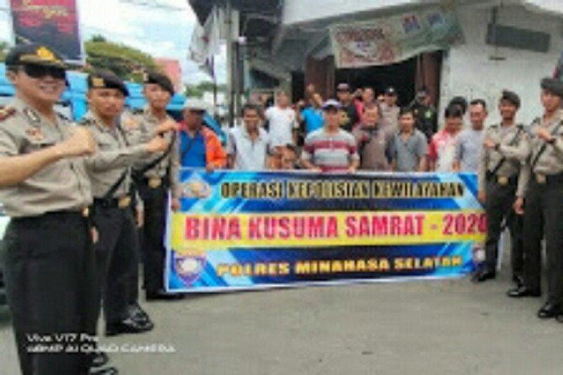Kepolisian gelar Operasi Bina Kusuma  di pusat pertokoan
