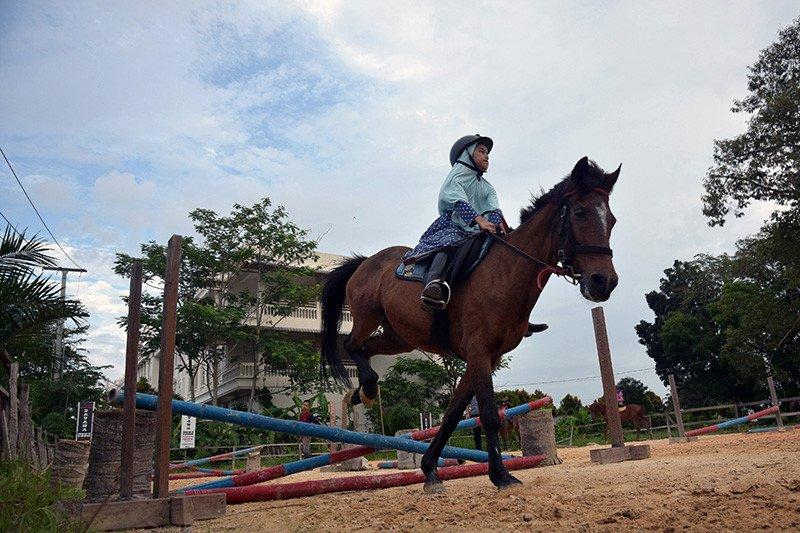 FOTO - Melihat aksi Joki Cilik di Pekanbaru