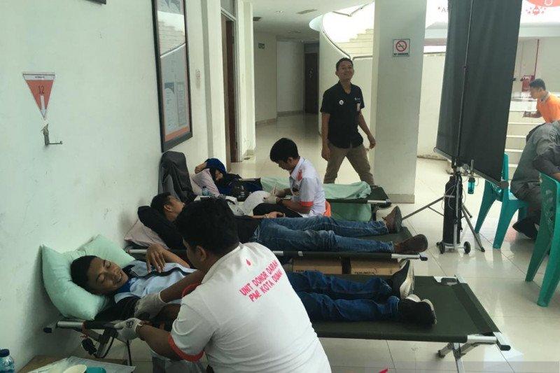 Pelindo Dumai dan PT SDS gelar donor darah bantu persediaan PMI