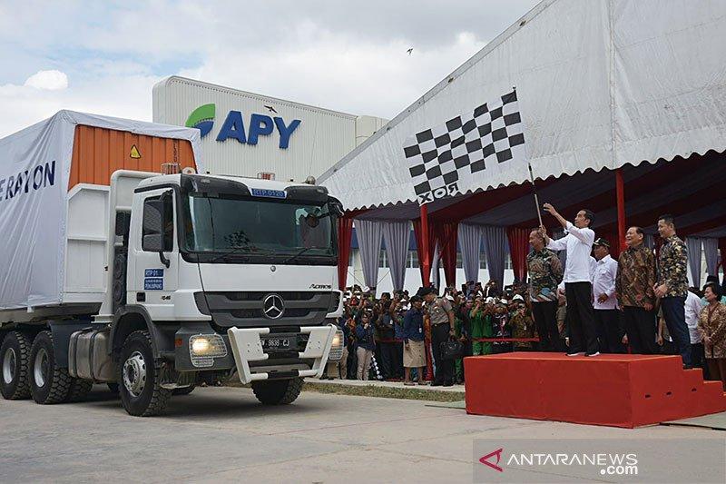 "Kala Jokowi heran saksikan pabrik rayon ""raksasa"" di Pelalawan"