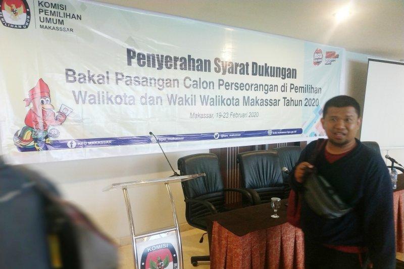 Penyerahan dukungan paslon perseorangan Pilkada Kota Makassar sepi peminat