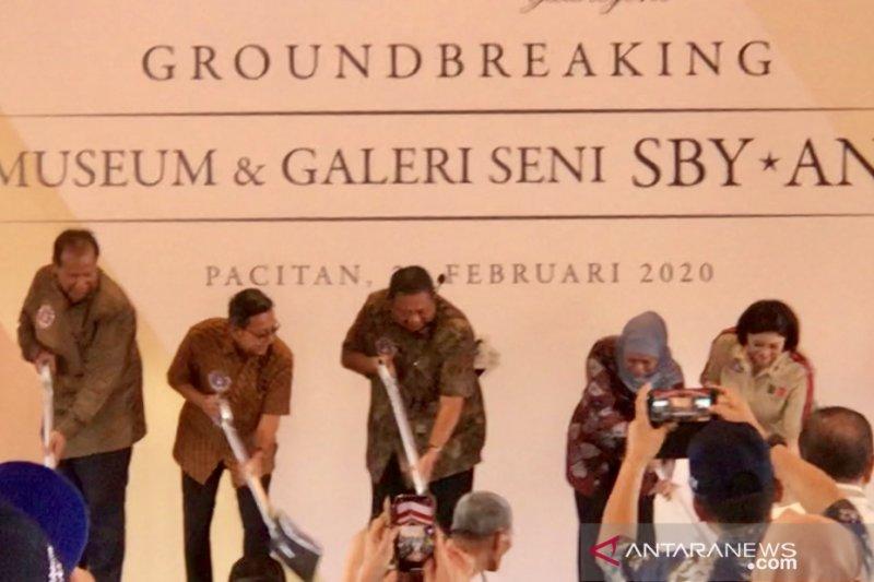 SBY pancangkan tiang pertama pembangunan museum di Pacitan