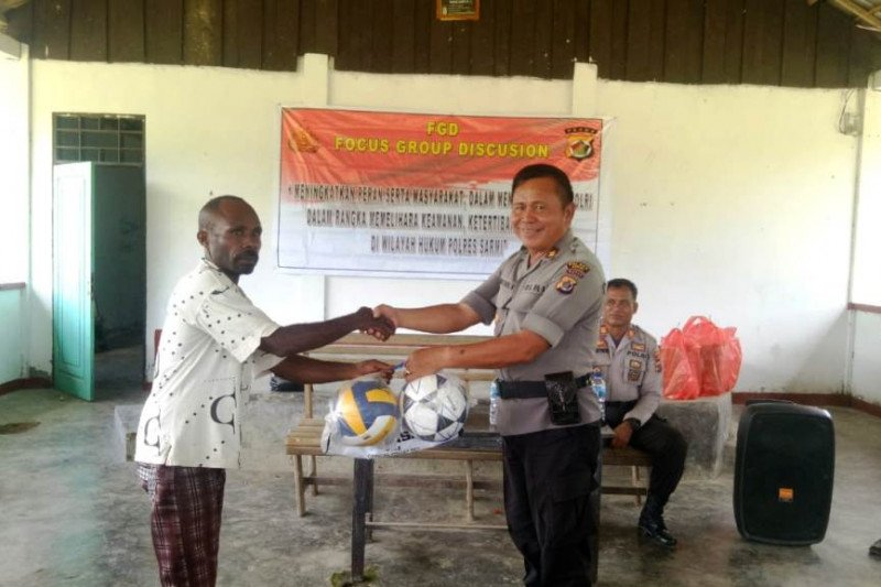 Polisi imbau warga kampung Sewan jaga Kamtibmas Kabupaten Sarmi
