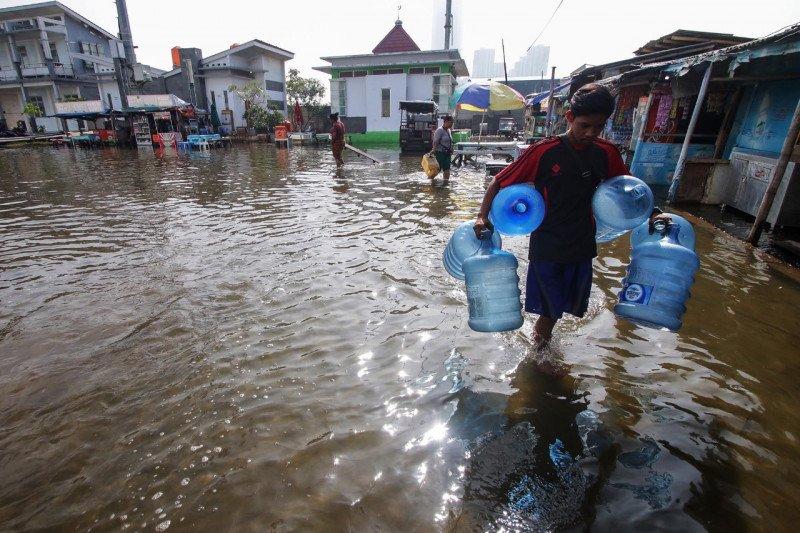 Banjir rendam sejumlah wilayah di Jakarta akibat hujan deras