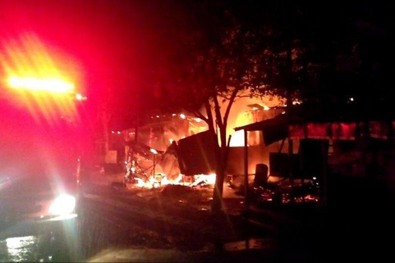 Seorang anak tewas terbakar dalam toko sembako