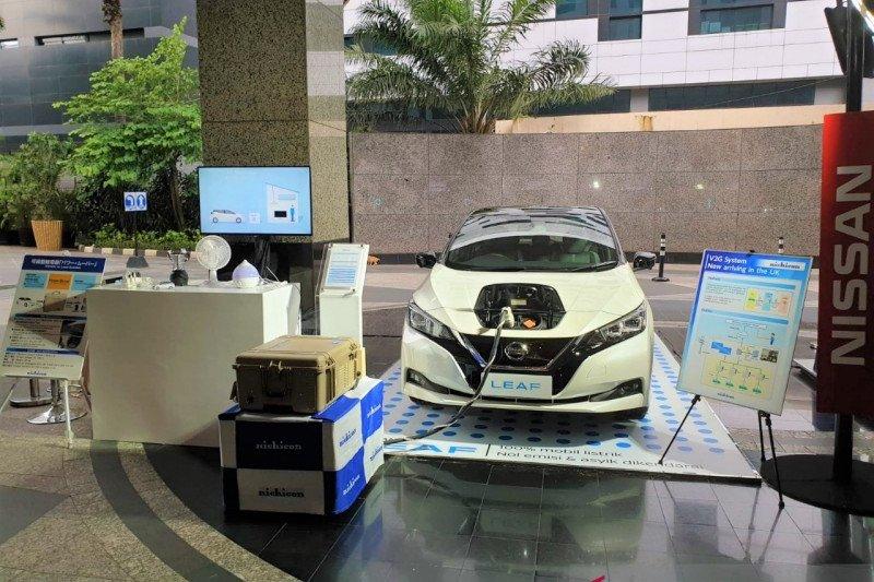 Nissan Leaf bisa sebagai alat memasok daya listrik rumah tangga