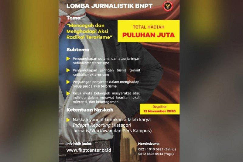 Lomba jurnalistik BNPT berhadiah puluhan juta rupiah