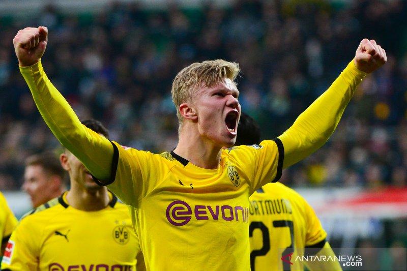 Haaland kembali pamer ketajaman saat Dortmund tundukkan Bremen 2-0