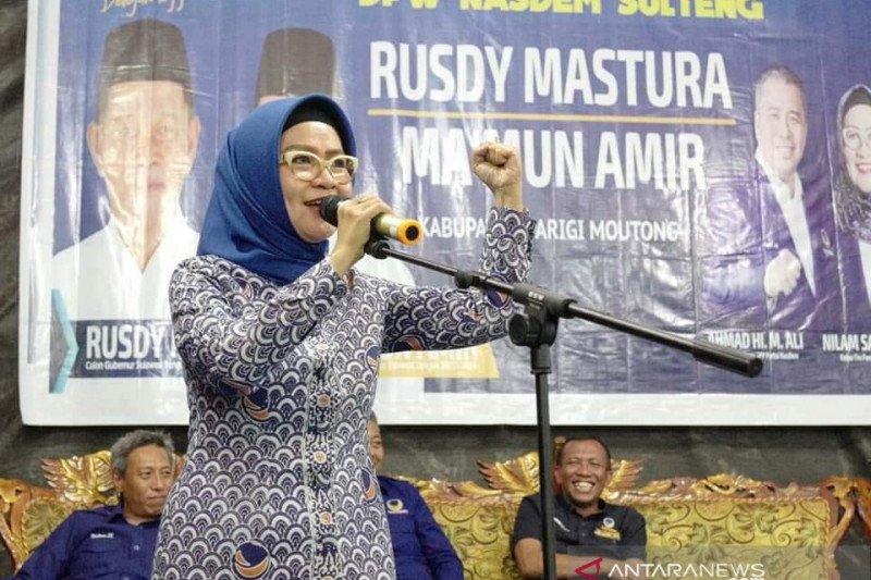 Dr Nilam Sari ajak warga Parigi Moutong menangkan Rusdi-Ma'mun
