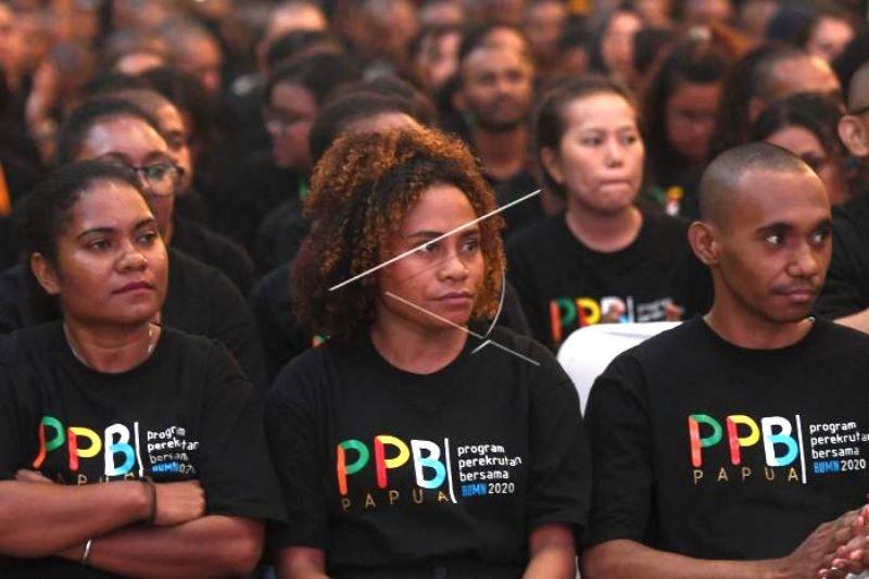 Inaugurasi Karyawan BUMN Orang Asli Papua